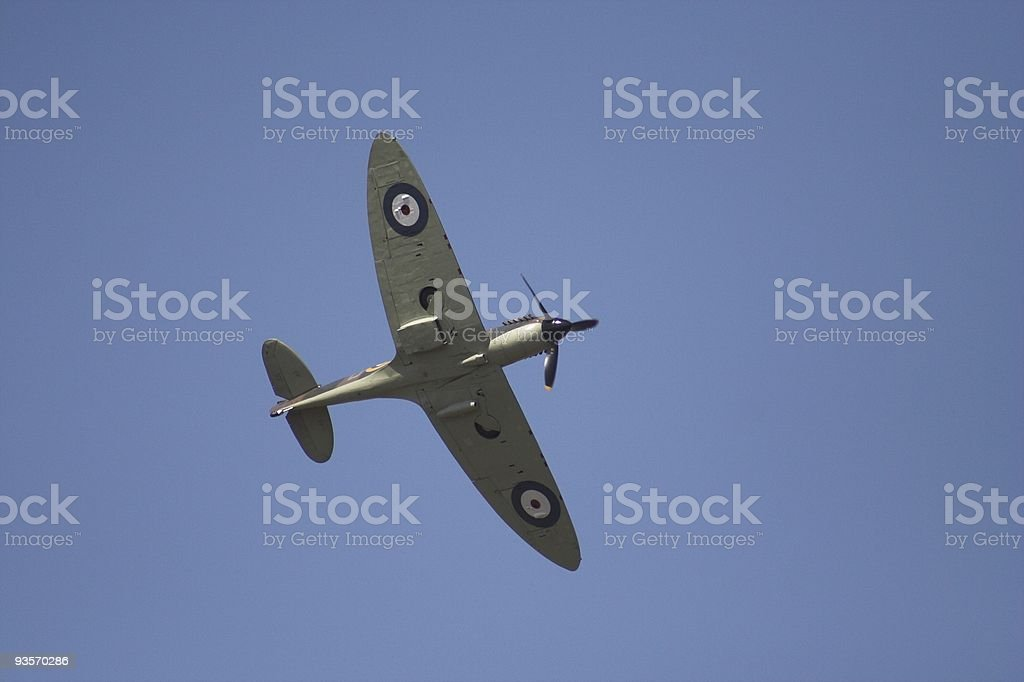Spitfire in flight royalty-free stock photo