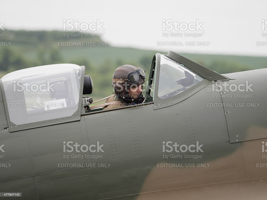 Spitfire Pilot stock photo