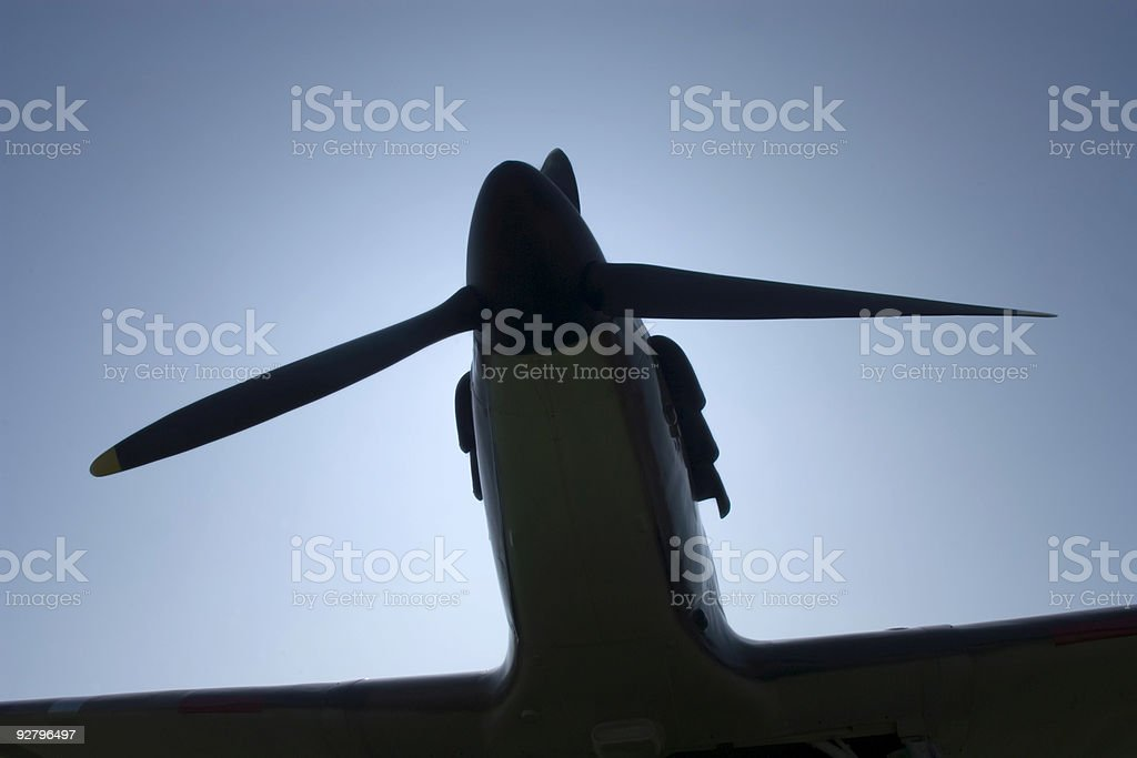 Spitfire Silhouette royalty-free stock photo