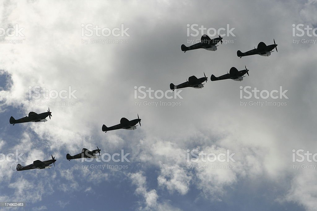 Spitfire Squadron royalty-free stock photo