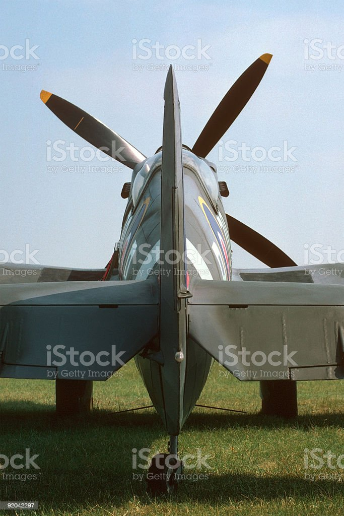 Spitfire Tail stock photo
