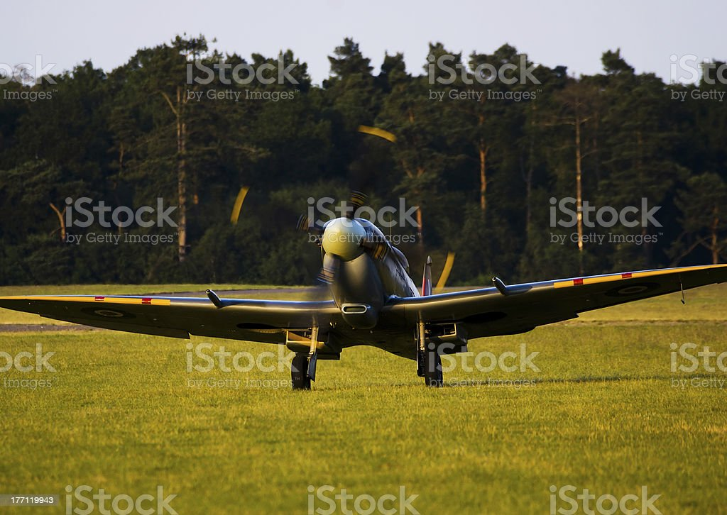 Spitfire taxiing royalty-free stock photo