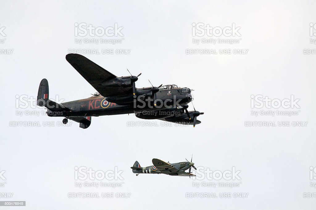 Spitfire war plane. stock photo