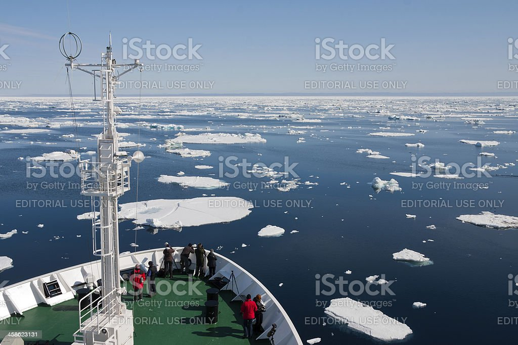 Spitsbergen and Icebergs in the Arctic royalty-free stock photo
