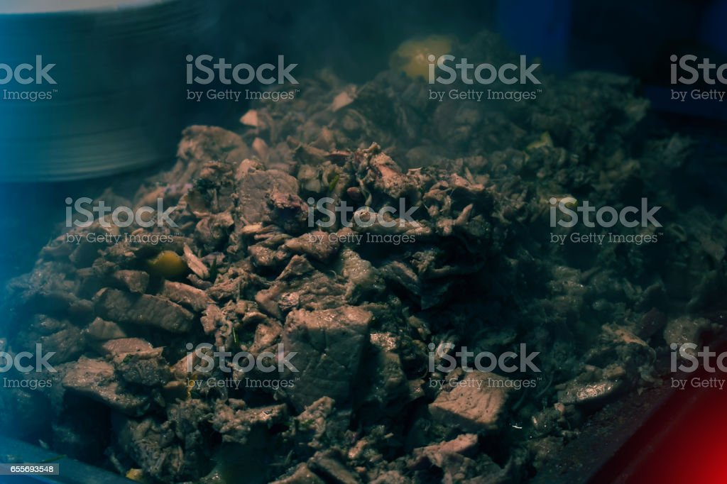 Spitted Pork Meat stock photo