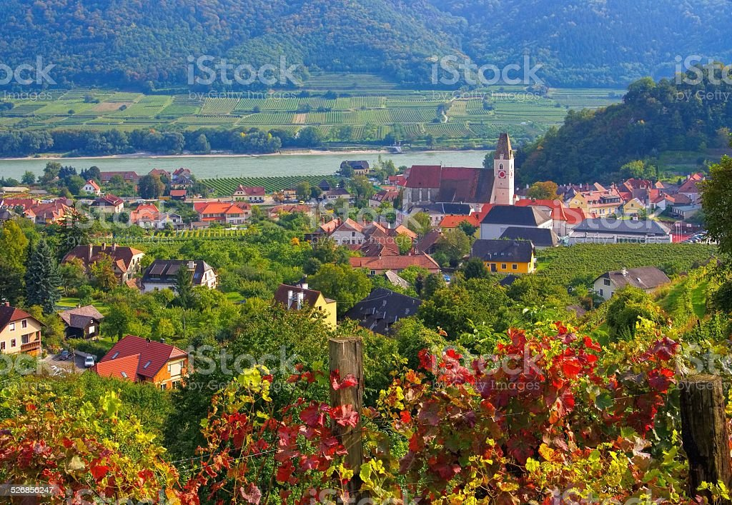 Spitz in Wachau stock photo