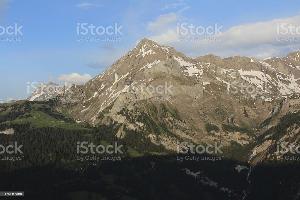 Spitzhorn in the evening royalty-free stock photo