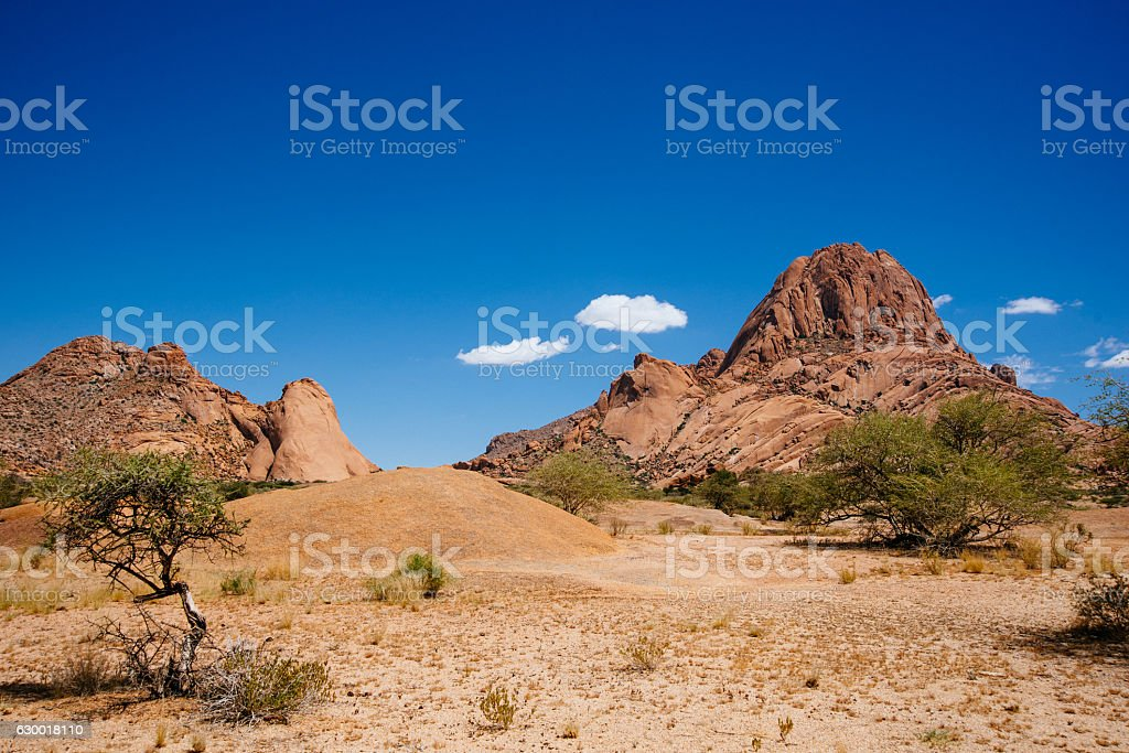 Spitzkoppe at high noon stock photo