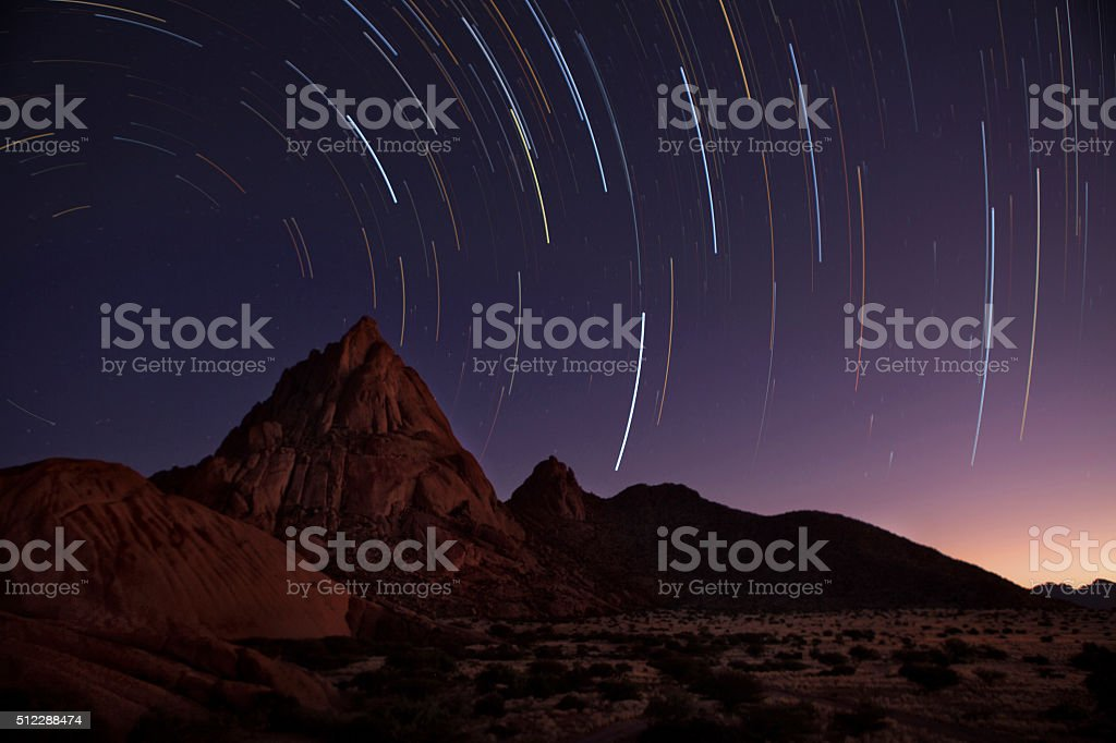 Spitzkoppe startrail stock photo