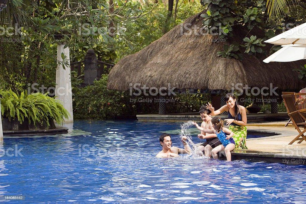 Splash Happy Family 05 stock photo