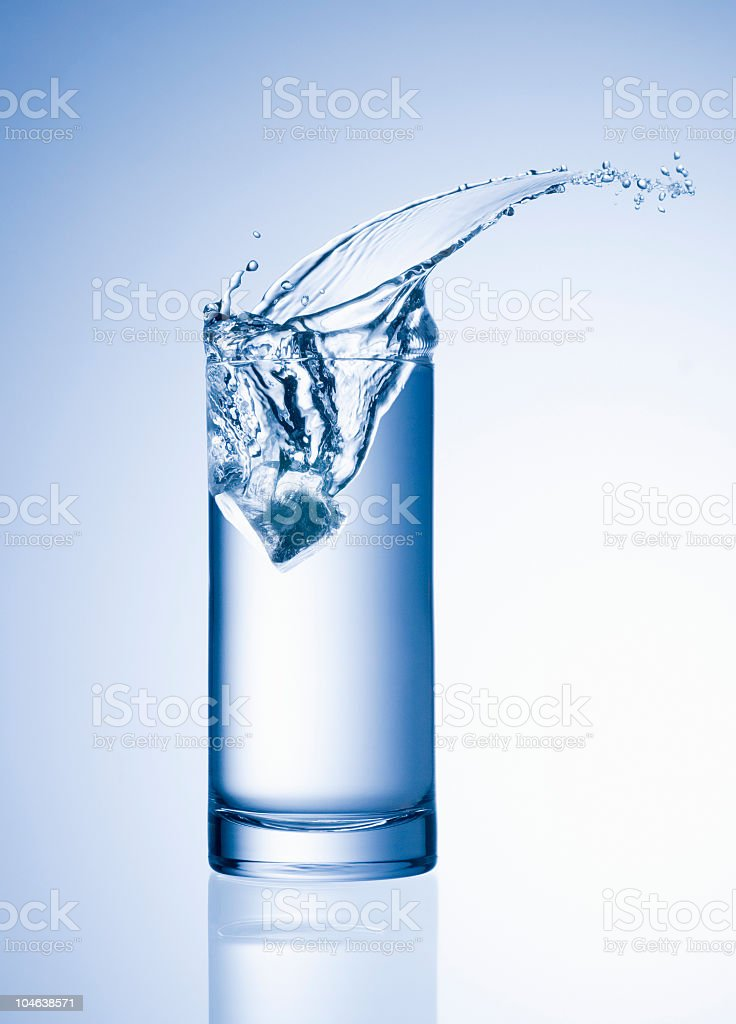 Splash in a Glass royalty-free stock photo