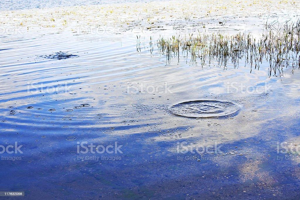 Splash in Lake royalty-free stock photo