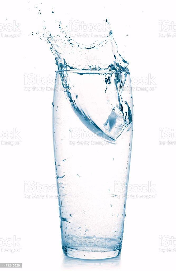 splash in water glass royalty-free stock photo