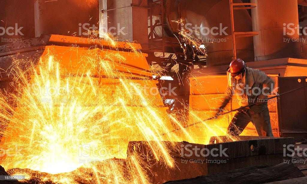 Splash iron stock photo