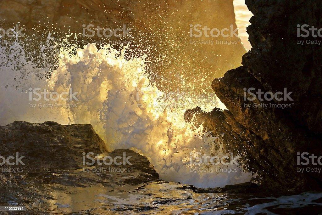 Splash of a Wave royalty-free stock photo
