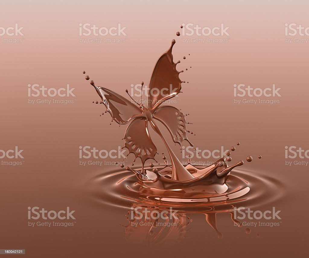 Splash Of Chocolate Butterfly stock photo