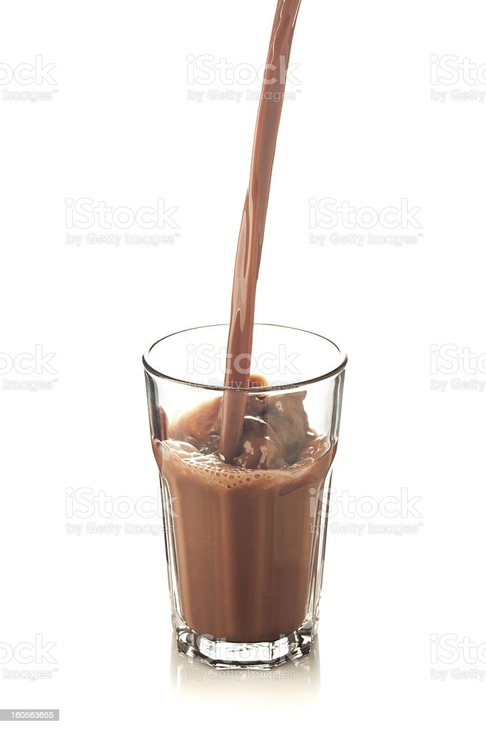 splash of chocolate in a glass royalty-free stock photo