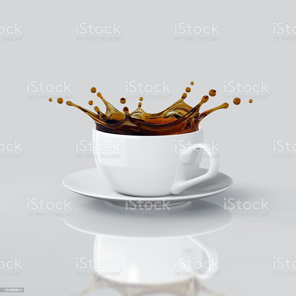 Splash Of Coffee In The Cup stock photo