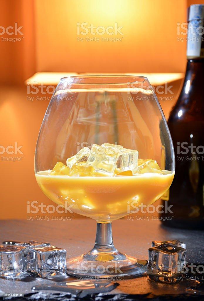 splash of Irish Cream liqueur stock photo