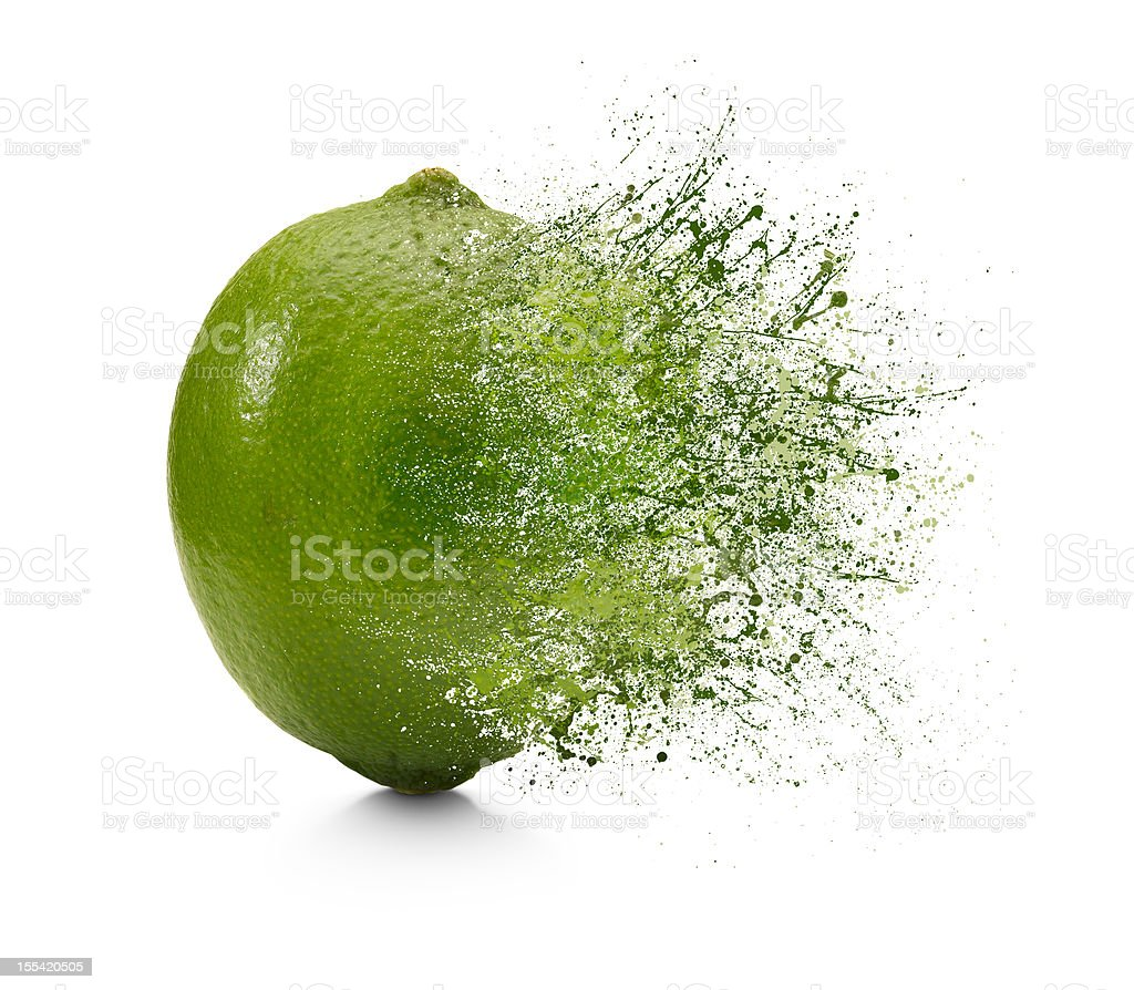 Splash of Lime stock photo