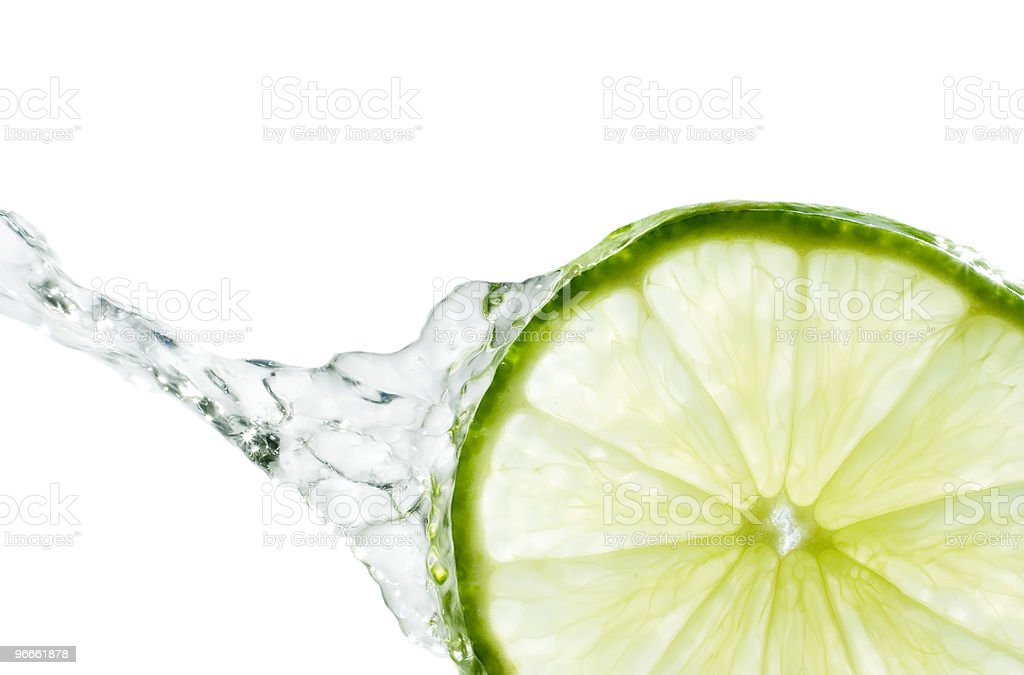 Splash of Lime royalty-free stock photo