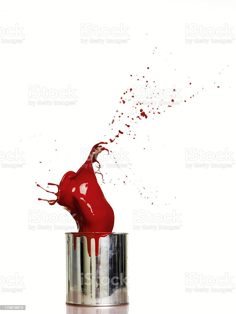 Splash of red paint stock photo