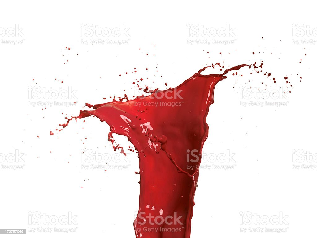 Splash of red paint royalty-free stock photo