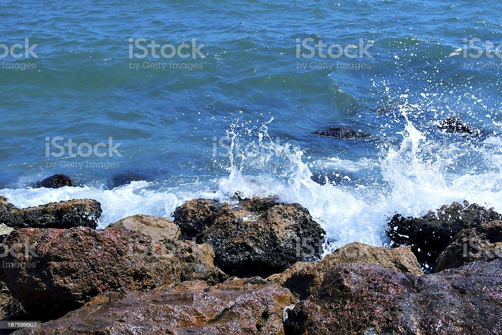 splash of turquoise waves royalty-free stock photo