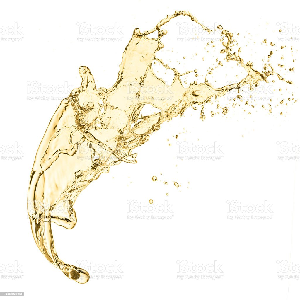 splash of white wine stock photo