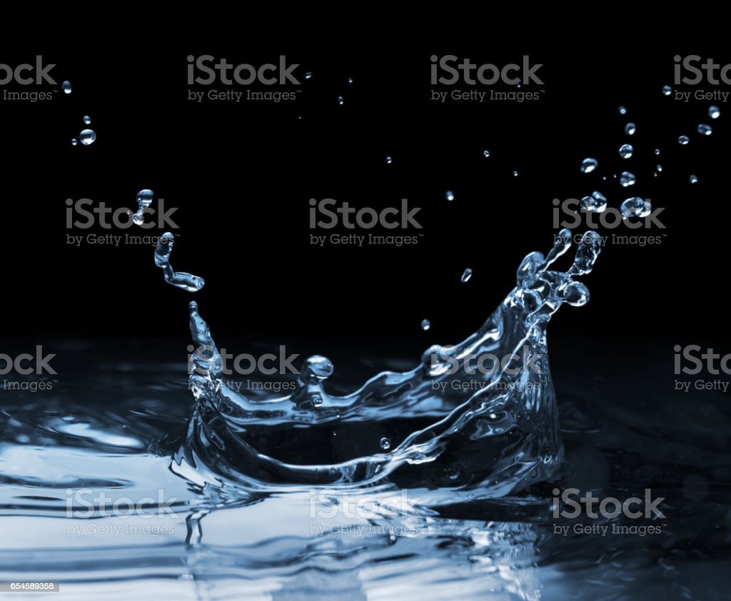 Splash on the water surface stock photo