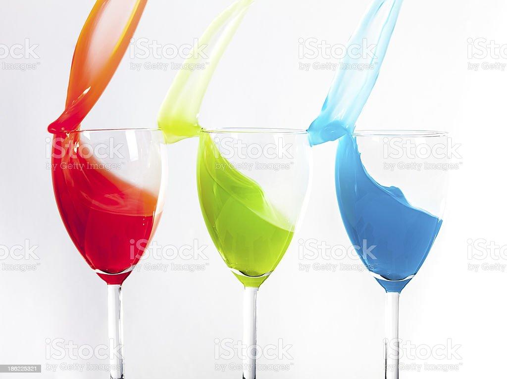 RGB splash royalty-free stock photo