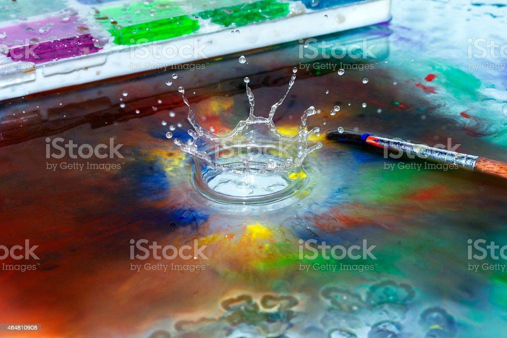 Le splash photo libre de droits