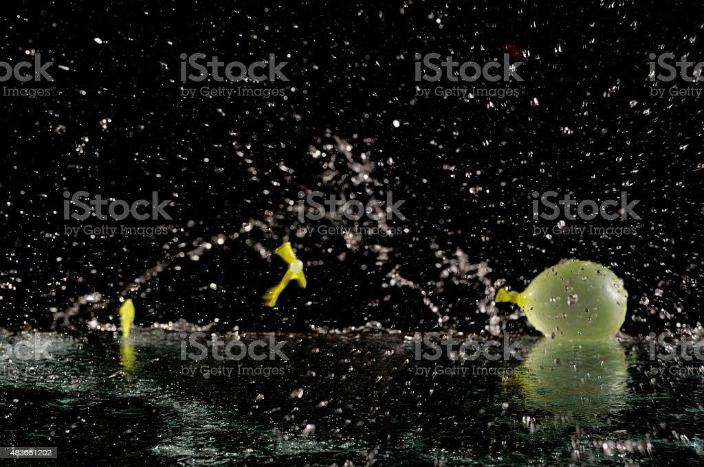 splash with balloon stock photo