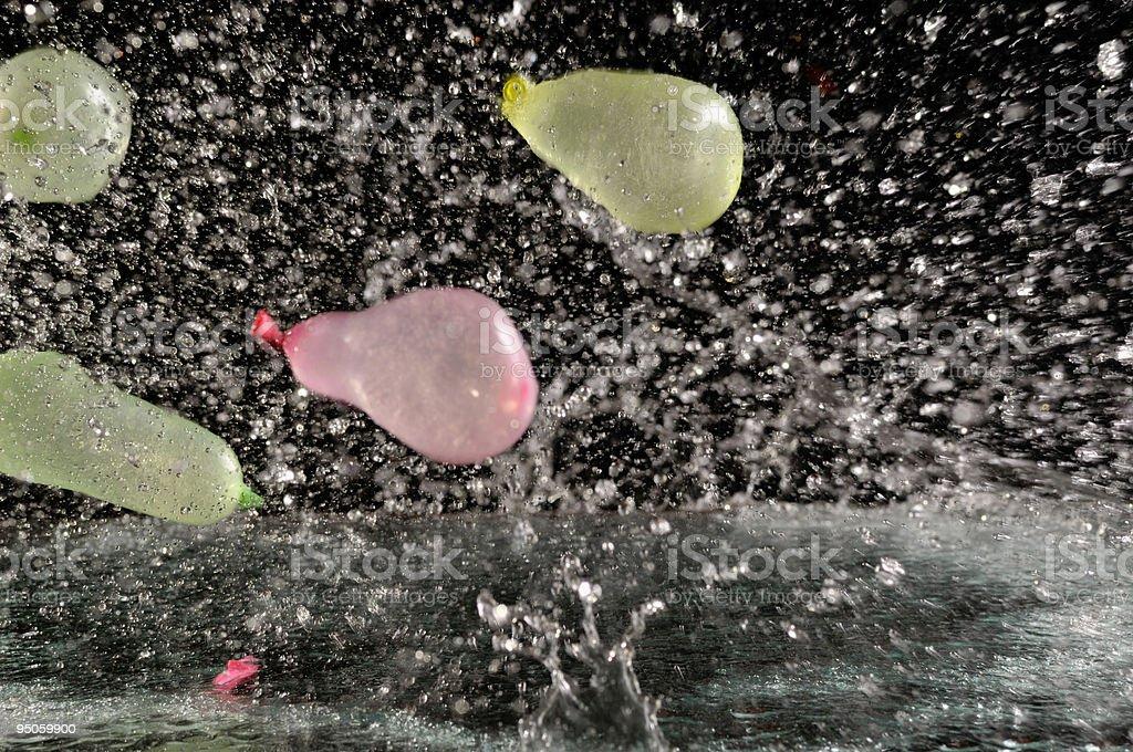 splash with four balloons stock photo