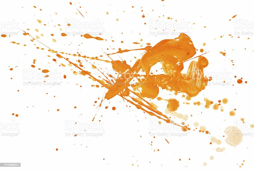 Splashes and paint royalty-free stock photo