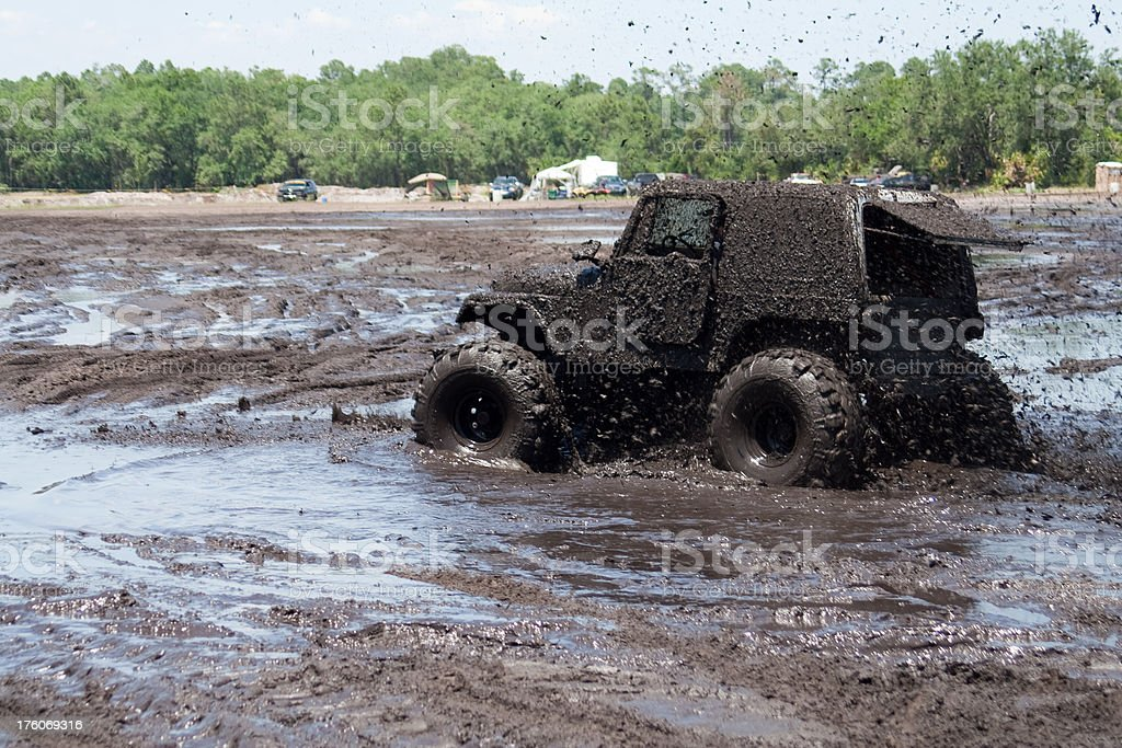 Splashin Mud Bogger stock photo