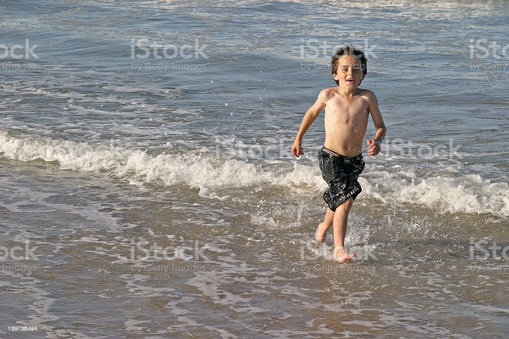 Splashing About In the Sea royalty-free stock photo