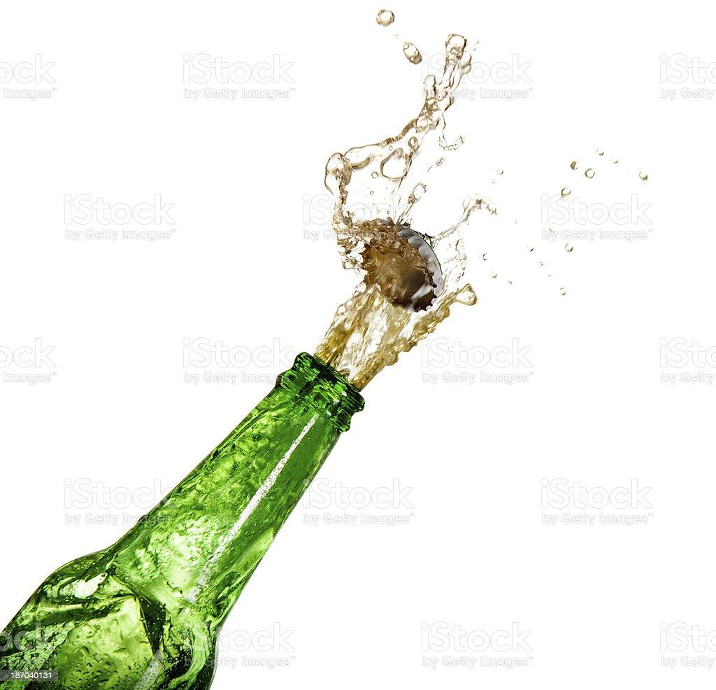 Splashing Beer stock photo