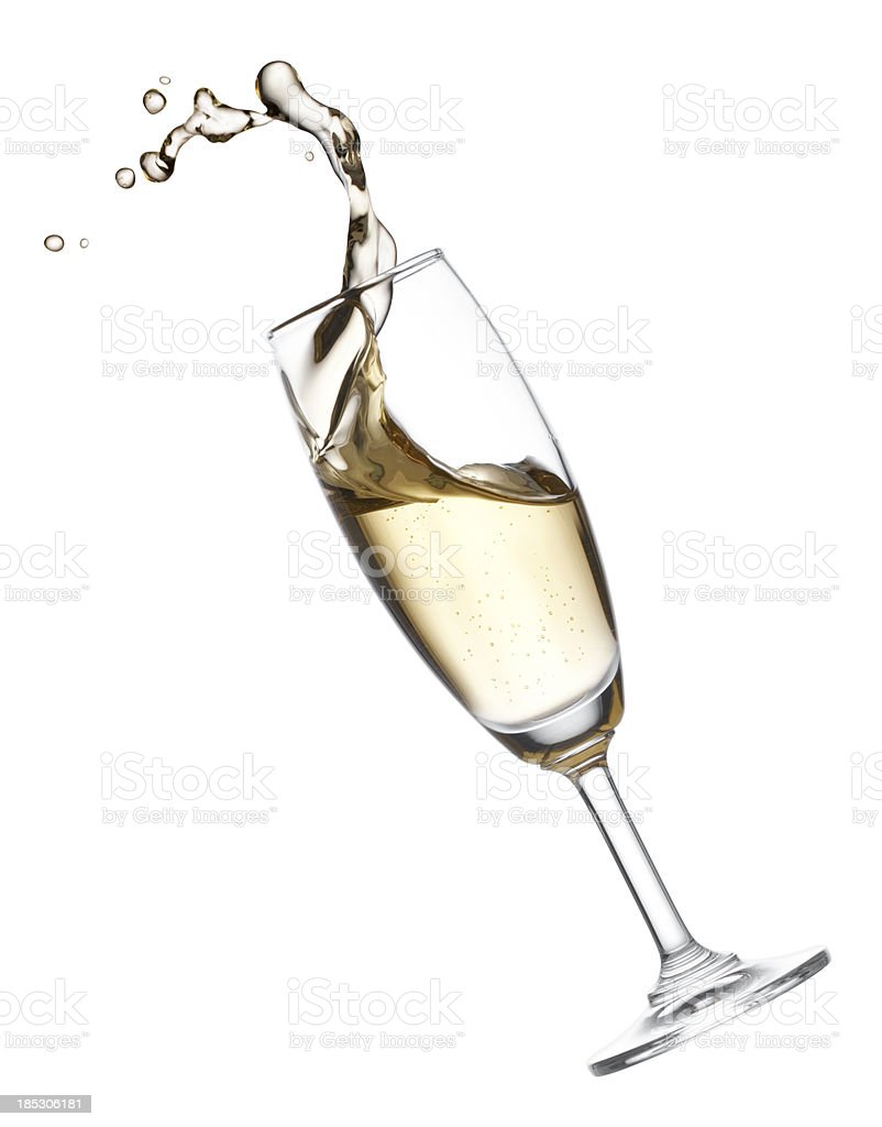 splashing champagne royalty-free stock photo