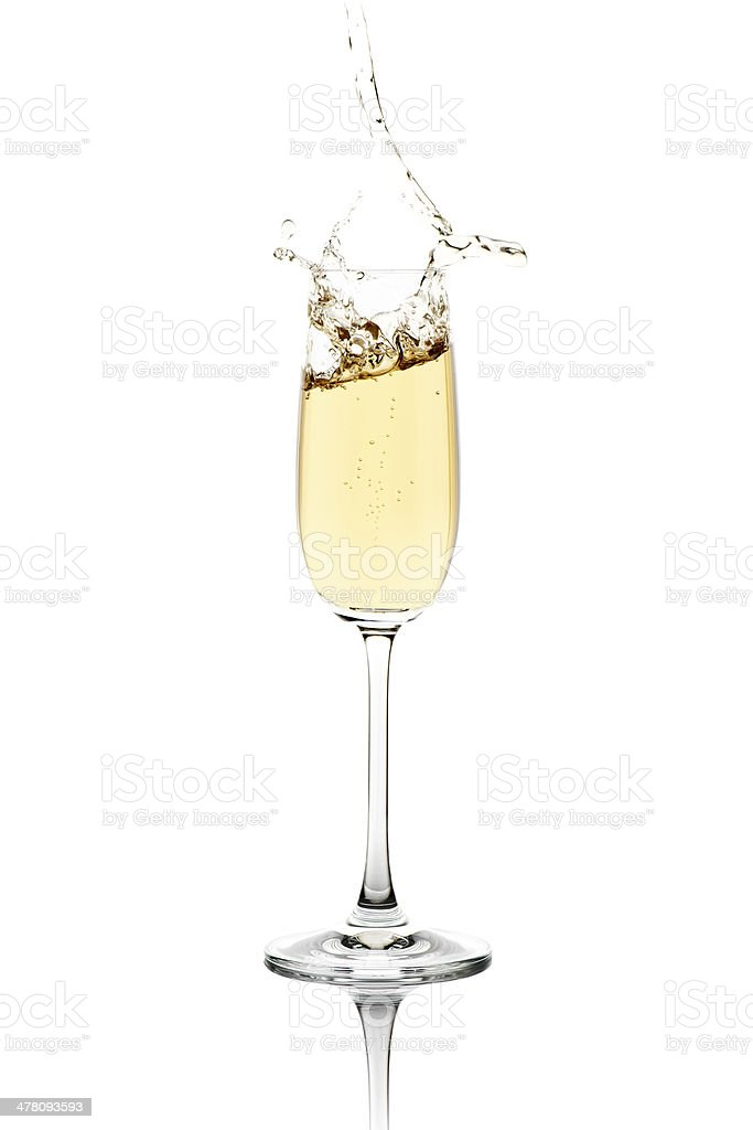 Splashing Champagne stock photo