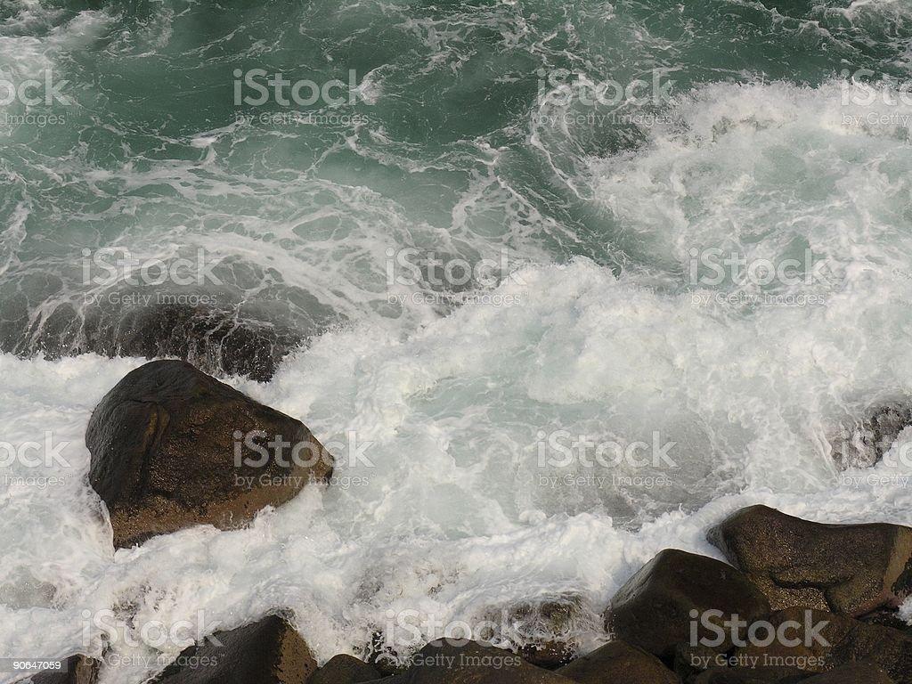 Splashing Cliff royalty-free stock photo