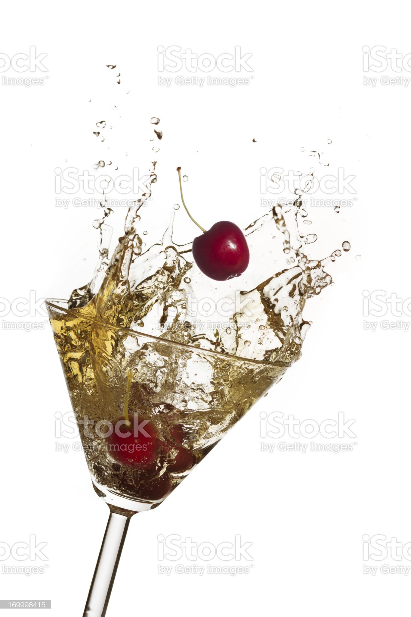 Splashing cocktail royalty-free stock photo