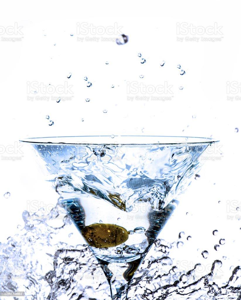 splashing cocktail stock photo