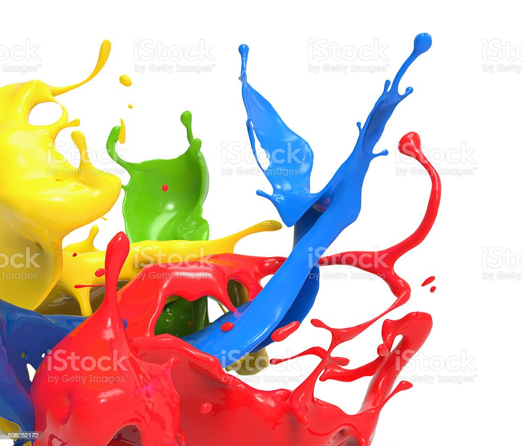 splashing colors stock photo