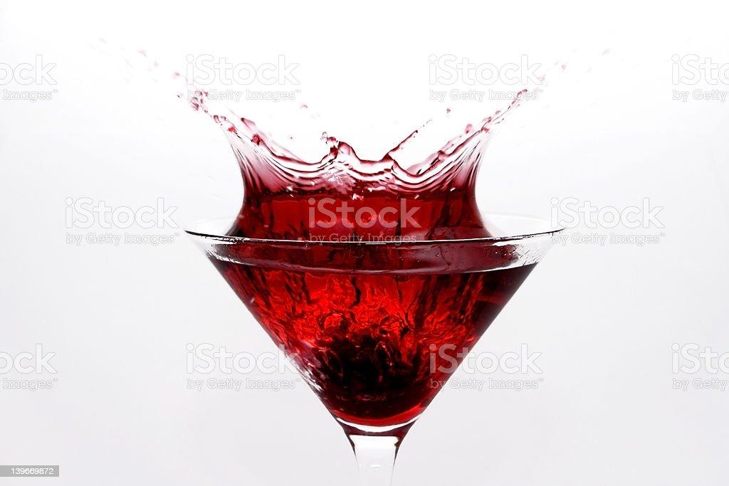 Splashing Cosmopolitan royalty-free stock photo
