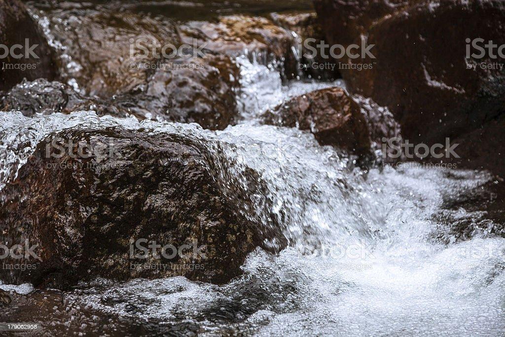 splashing creek stock photo