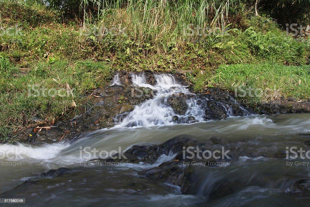 splashing creeks stock photo