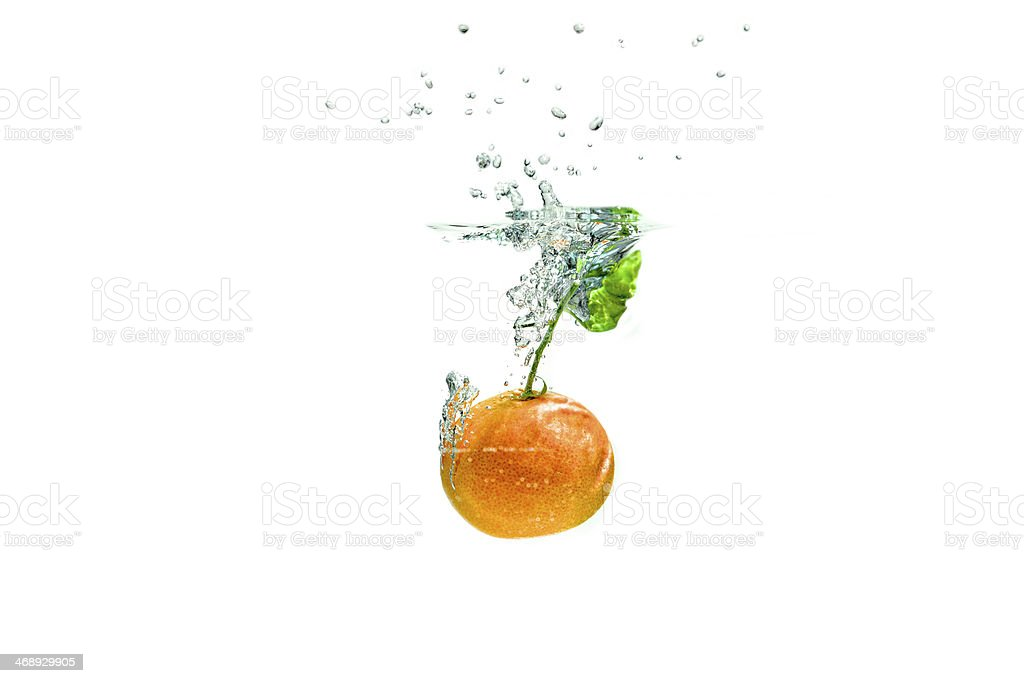 Splashing Fruits stock photo
