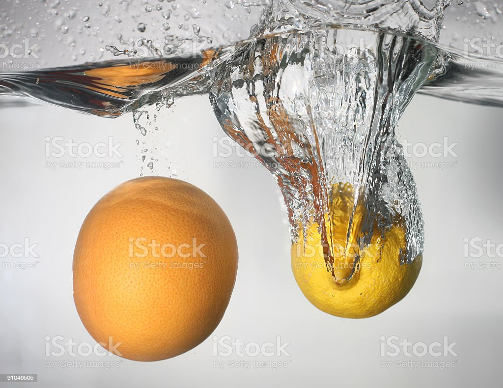 Splashing fruits royalty-free stock photo