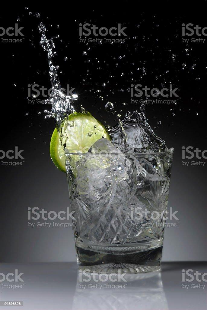 Splashing ice-cube royalty-free stock photo